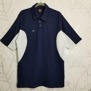 Nike Team Dri-fit Navy & White Polo Shirt